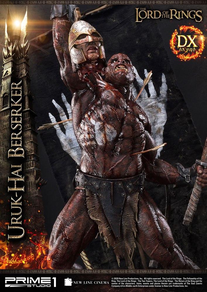 Statue Le Seigneur des Anneaux Uruk-Hai Berserker Deluxe Version 93cm 1001 Figurines (6)