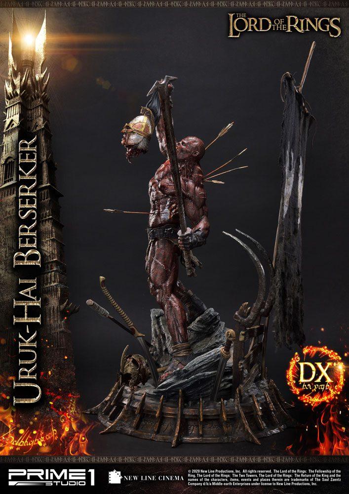 Statue Le Seigneur des Anneaux Uruk-Hai Berserker Deluxe Version 93cm 1001 Figurines (9)