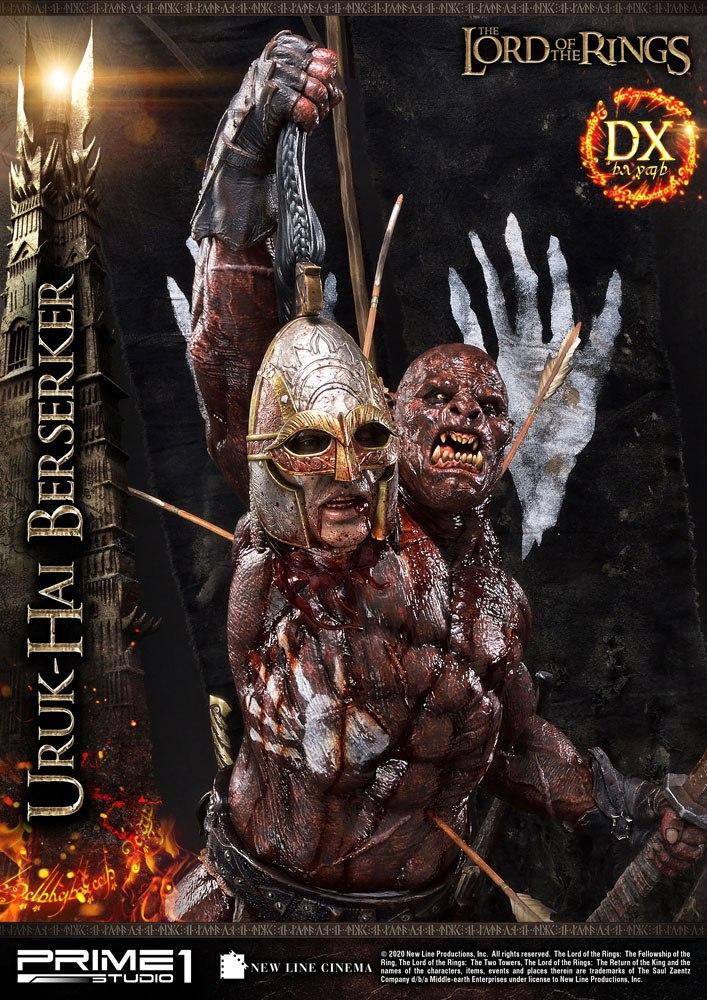 Statue Le Seigneur des Anneaux Uruk-Hai Berserker Deluxe Version 93cm 1001 Figurines (12)
