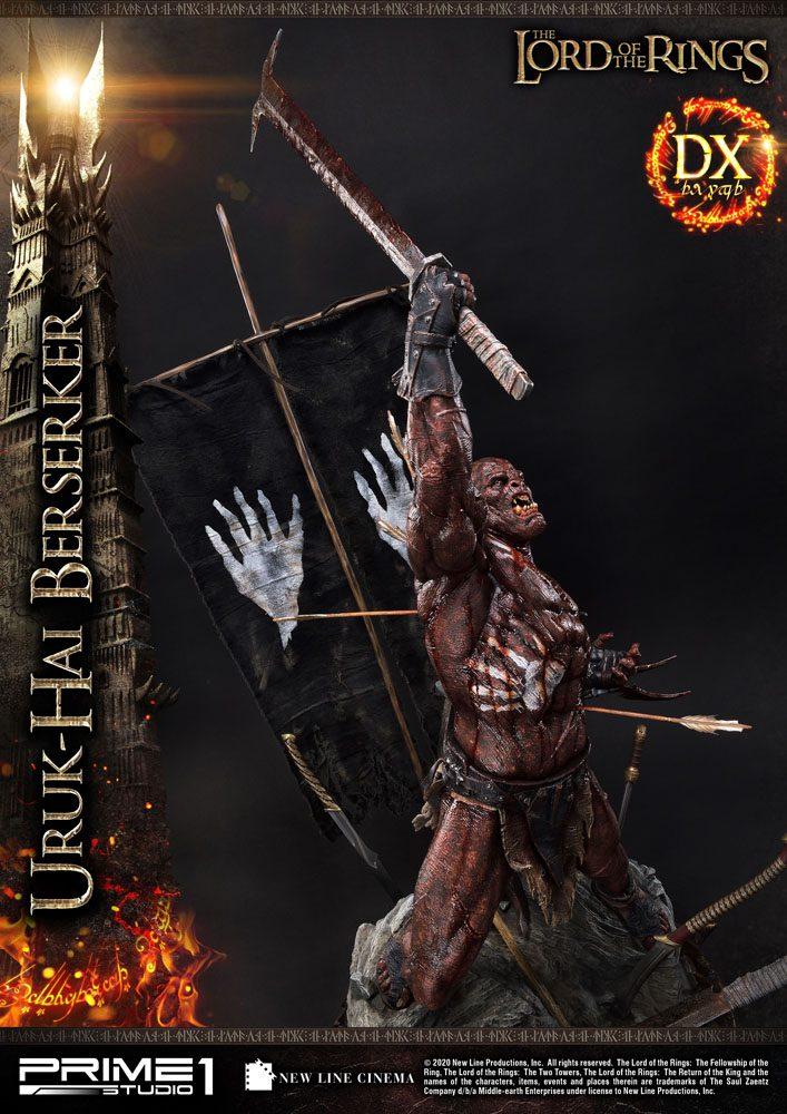 Statue Le Seigneur des Anneaux Uruk-Hai Berserker Deluxe Version 93cm 1001 Figurines (14)