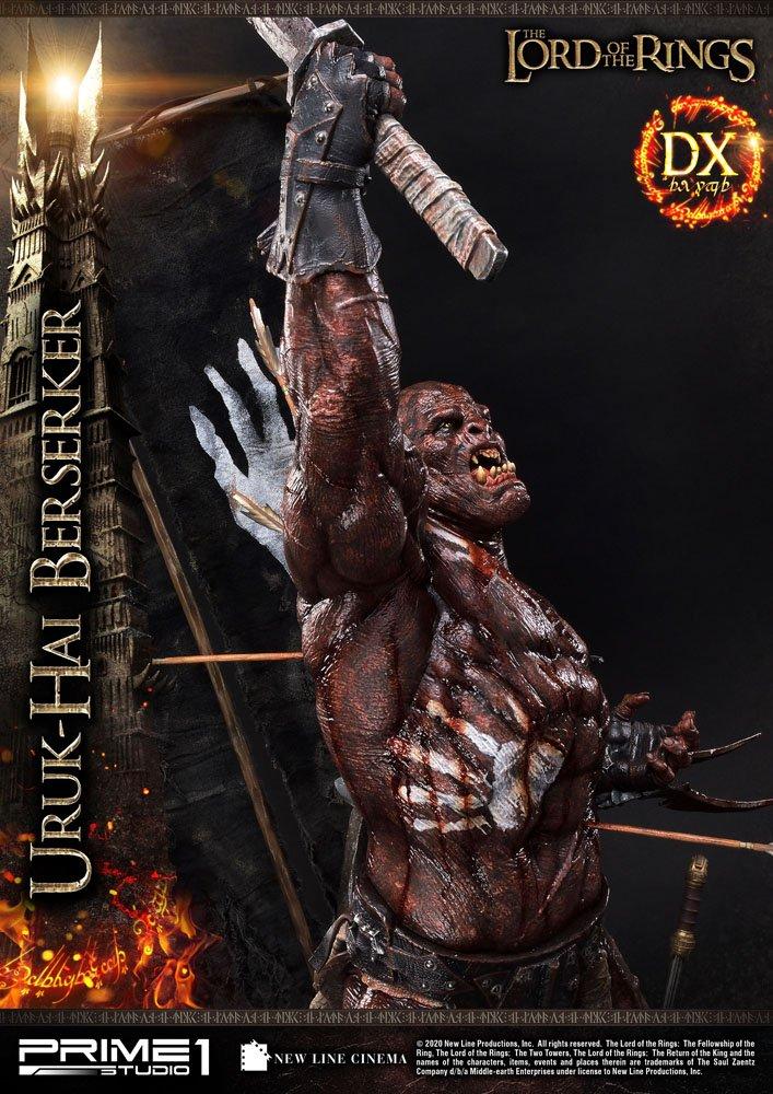 Statue Le Seigneur des Anneaux Uruk-Hai Berserker Deluxe Version 93cm 1001 Figurines (15)
