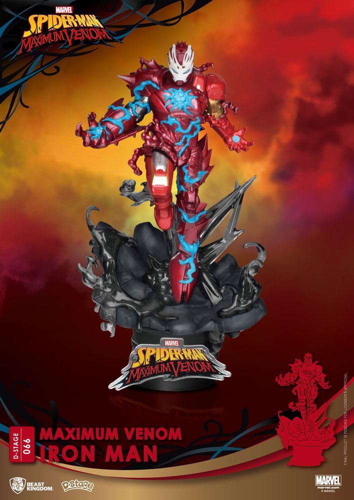 Diorama Marvel Comics D-Stage Maximum Venom Iron Man 16cm