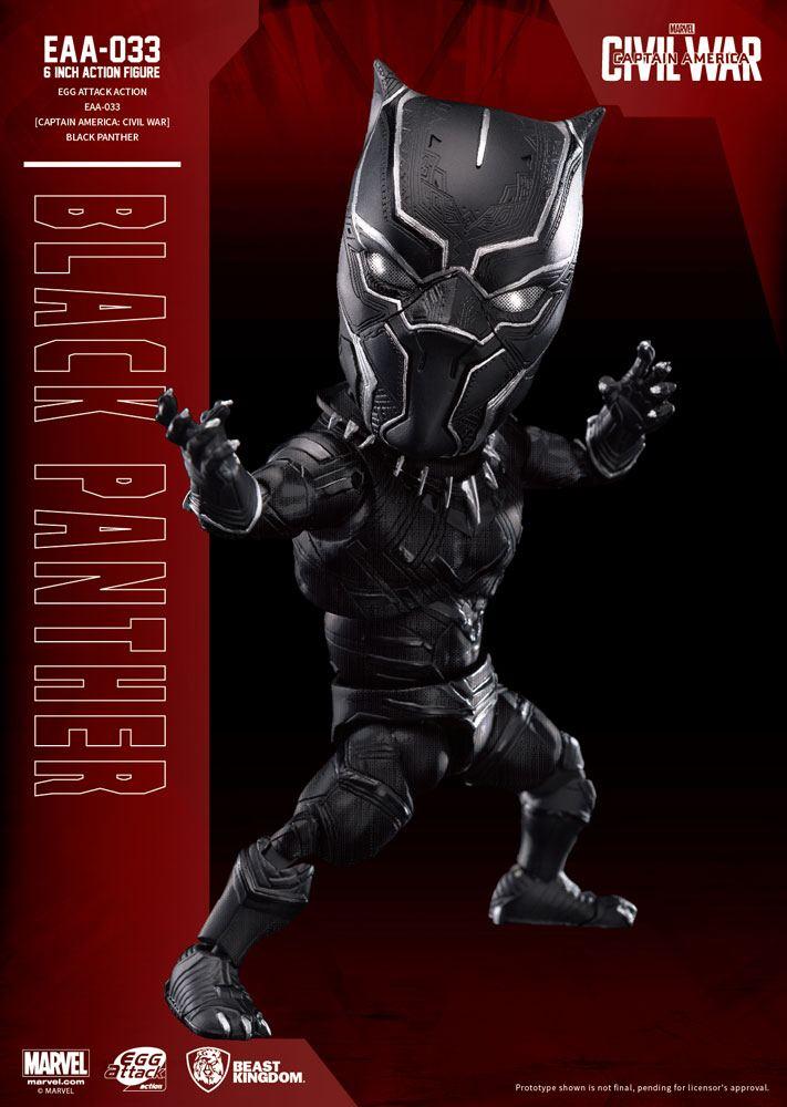 Figurine Captain America Civil War Egg Attack Black Panther 15cm