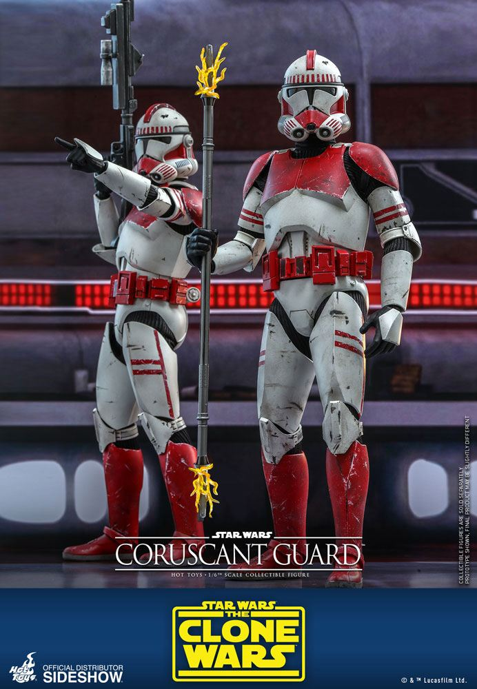 Figurine Star Wars The Clone Wars Coruscant Guard 30cm 1001 Figurines (3)