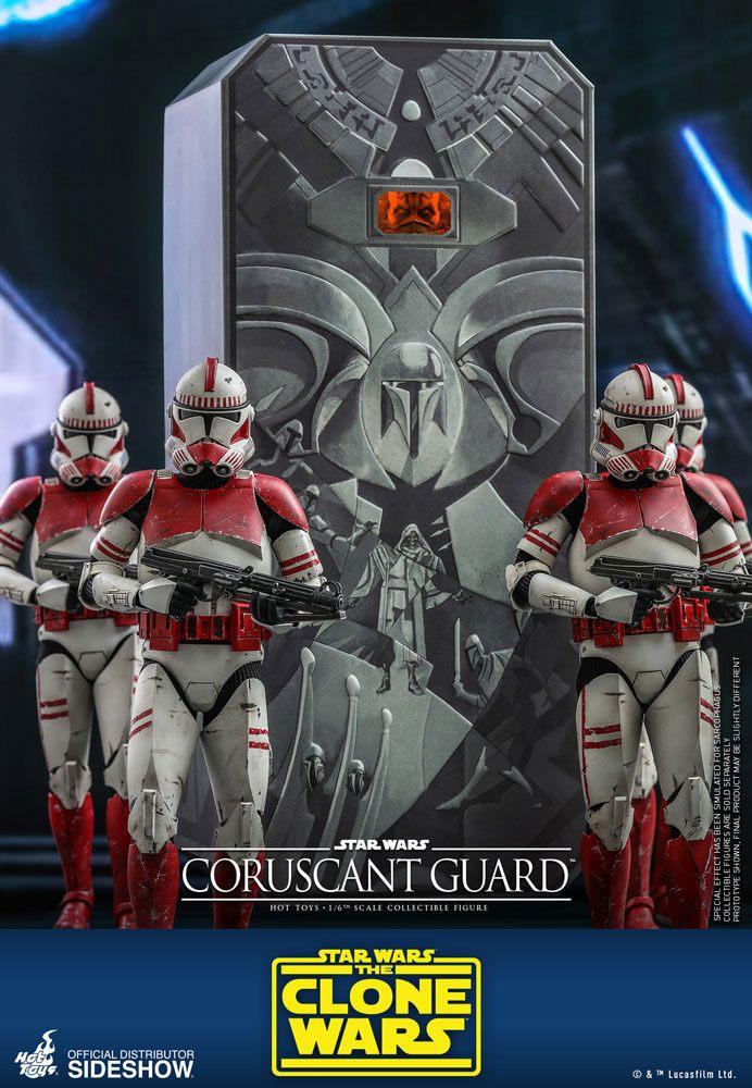 Figurine Star Wars The Clone Wars Coruscant Guard 30cm 1001 Figurines (5)