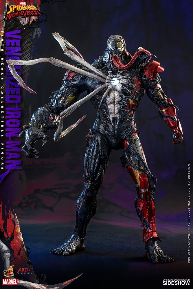 Figurine Marvel\'s Spider-Man Maximum Venom Artist Collection Venomized Iron Man 35cm