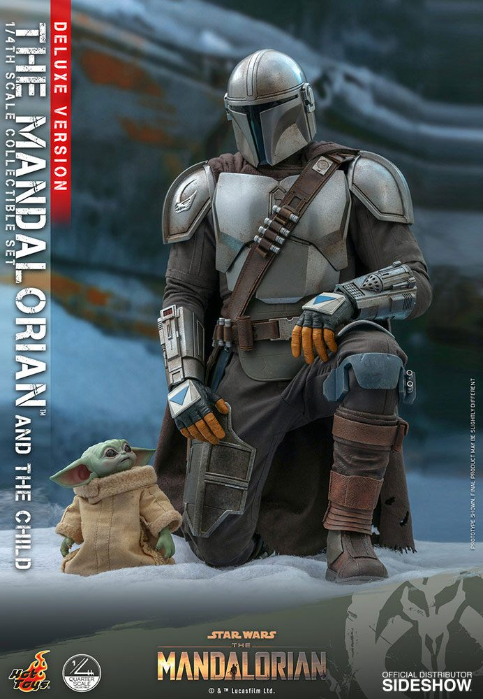 Pack Figurines Star Wars The Mandalorian The Mandalorian & The Child Deluxe 46cm 1001 Figurines (4)