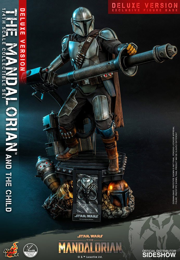 Pack Figurines Star Wars The Mandalorian The Mandalorian & The Child Deluxe 46cm 1001 Figurines (3)