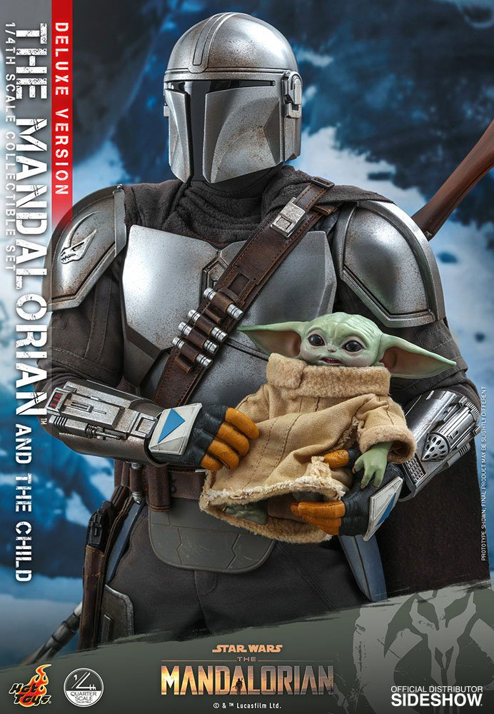 Pack Figurines Star Wars The Mandalorian The Mandalorian & The Child Deluxe 46cm 1001 Figurines (7)