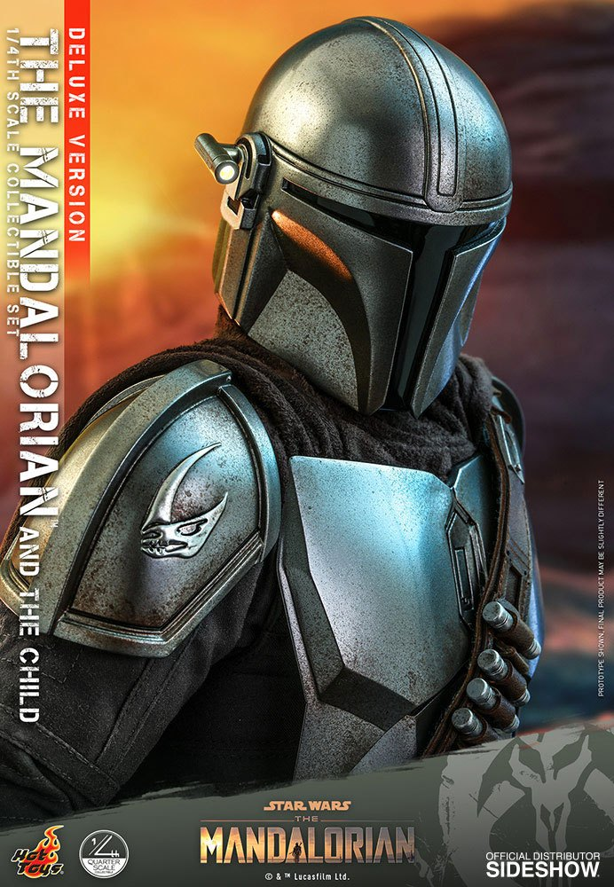 Pack Figurines Star Wars The Mandalorian The Mandalorian & The Child Deluxe 46cm 1001 Figurines (9)