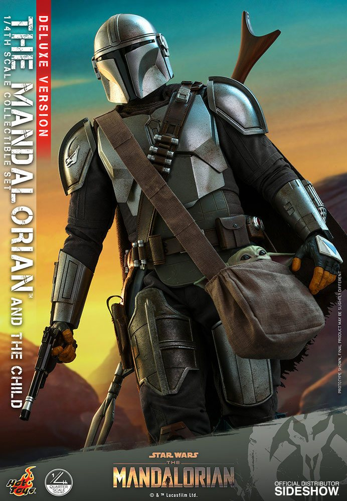Pack Figurines Star Wars The Mandalorian The Mandalorian & The Child Deluxe 46cm 1001 Figurines (11)
