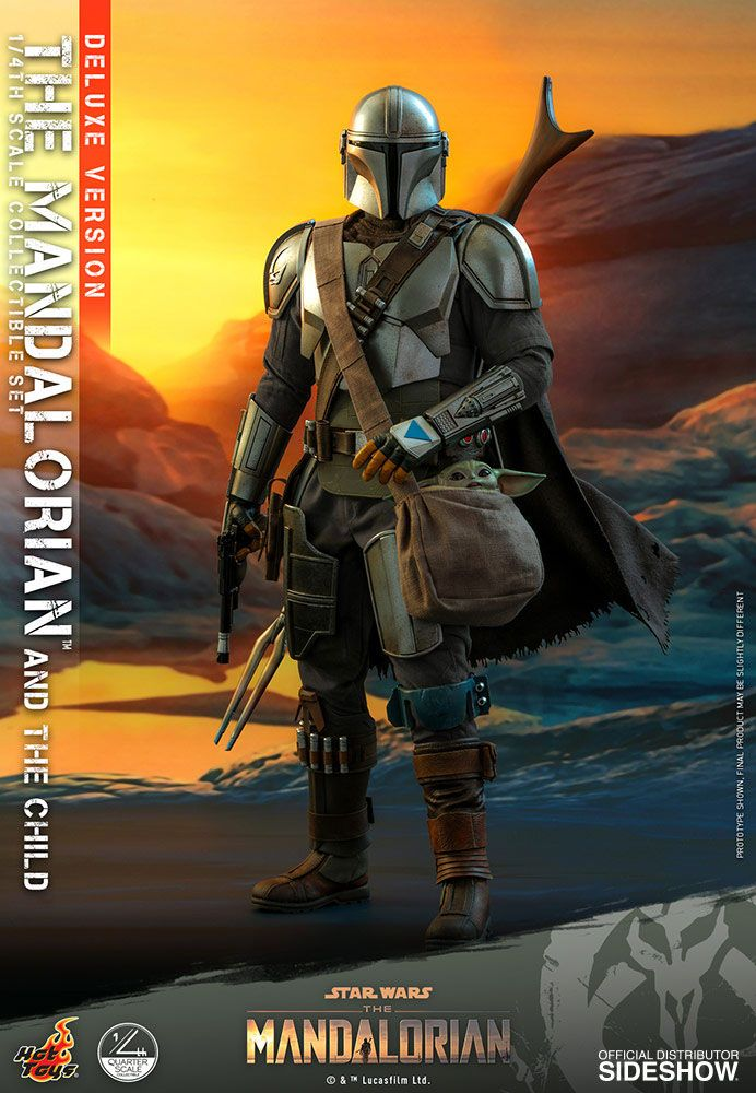 Pack Figurines Star Wars The Mandalorian The Mandalorian & The Child Deluxe 46cm 1001 Figurines (14)