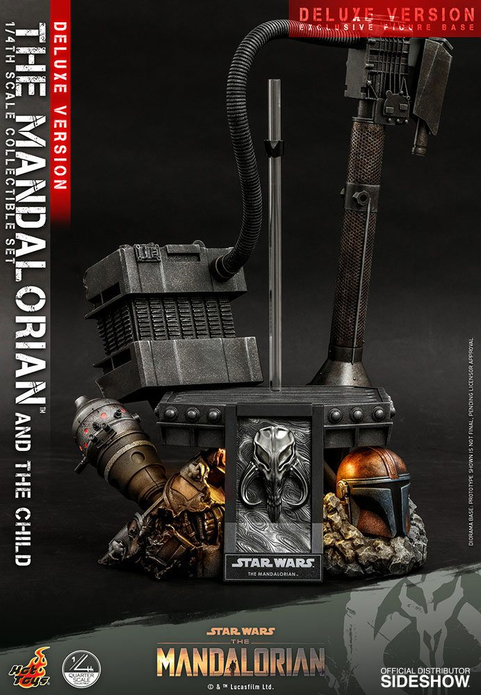 Pack Figurines Star Wars The Mandalorian The Mandalorian & The Child Deluxe 46cm 1001 Figurines (23)