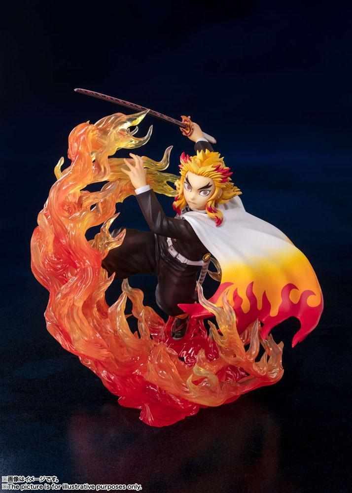Statuette Demon Slayer Kimetsu no Yaiba Figuarts ZERO Kyojuro Rengoku Flame Breathing 18cm 1001 Figurines (3)
