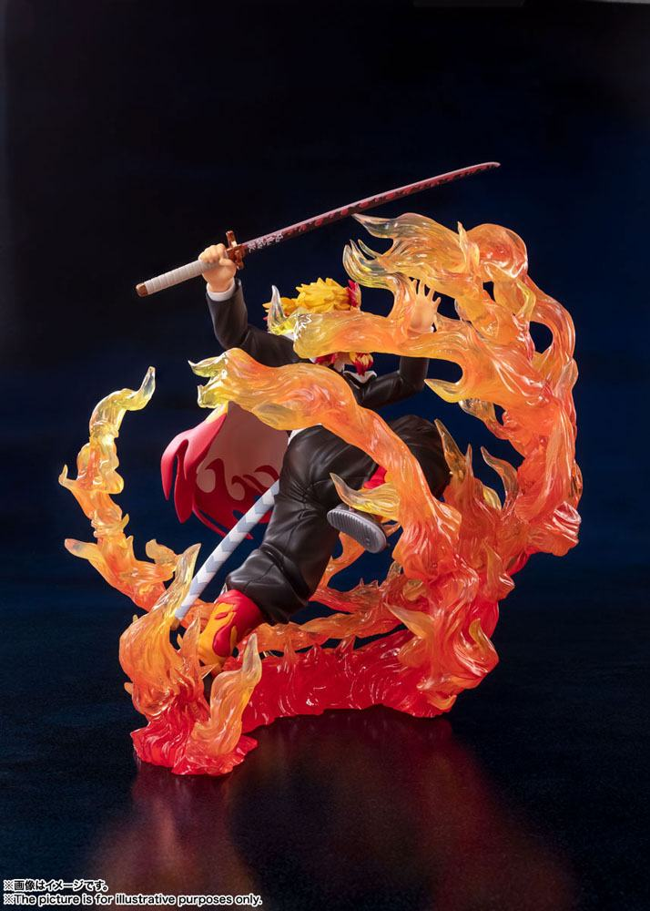 Statuette Demon Slayer Kimetsu no Yaiba Figuarts ZERO Kyojuro Rengoku Flame Breathing 18cm 1001 Figurines (5)