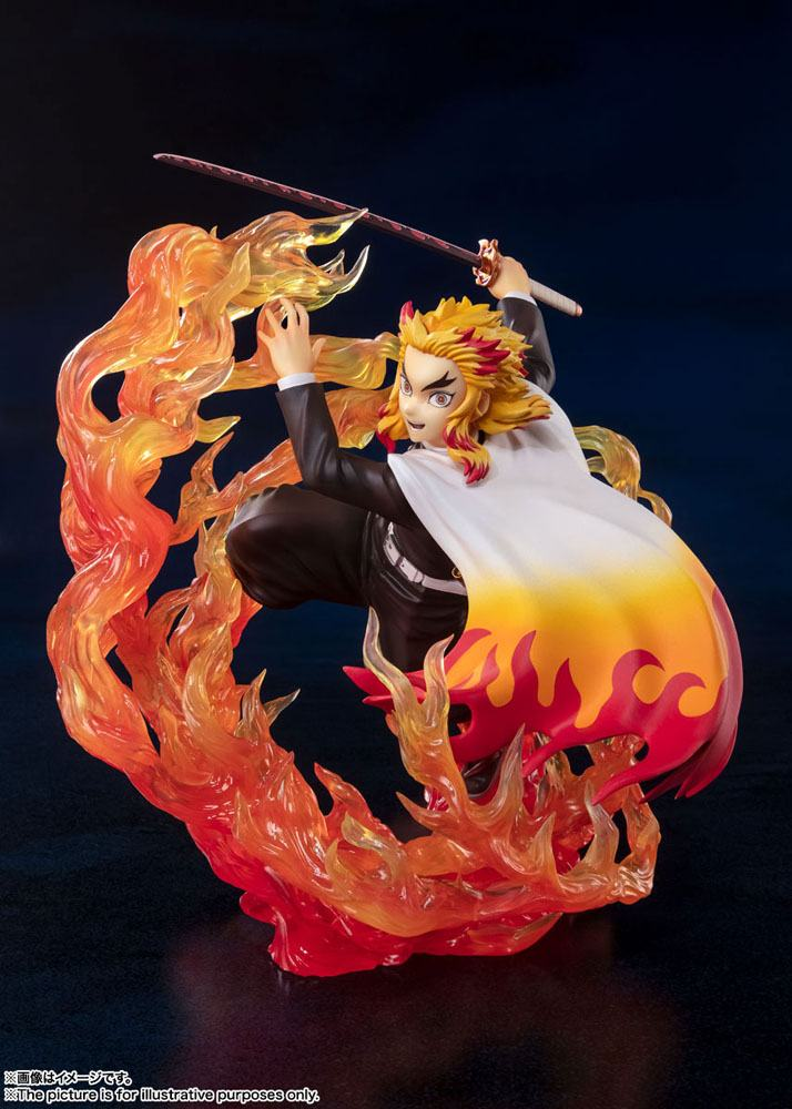 Statuette Demon Slayer Kimetsu no Yaiba Figuarts ZERO Kyojuro Rengoku Flame Breathing 18cm 1001 Figurines (6)