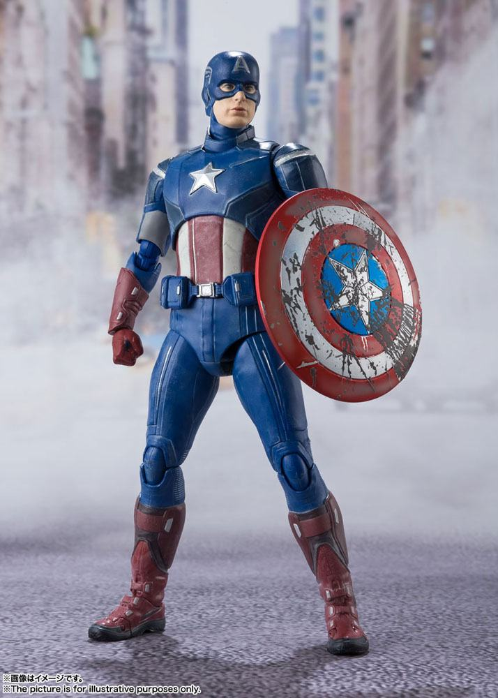 Figurine Avengers S.H. Figuarts Captain America Avengers Assemble Edition 15cm 1001 Figurines (2)