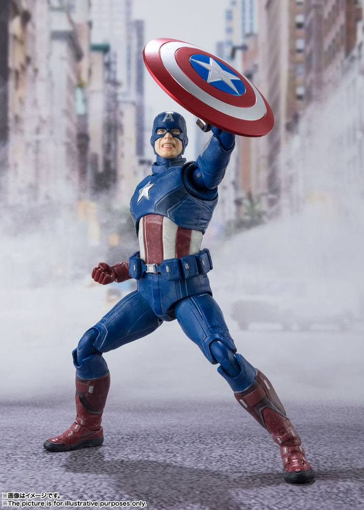 Figurine Avengers S.H. Figuarts Captain America Avengers Assemble Edition 15cm 1001 Figurines (5)