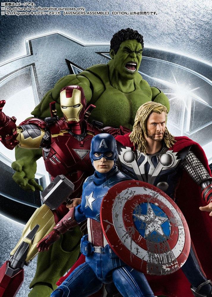 Figurine Avengers S.H. Figuarts Captain America Avengers Assemble Edition 15cm 1001 Figurines (7)