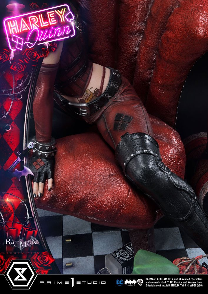 Statue Batman Arkham City Harley Quinn 58cm 1001 FIGURINES (13)