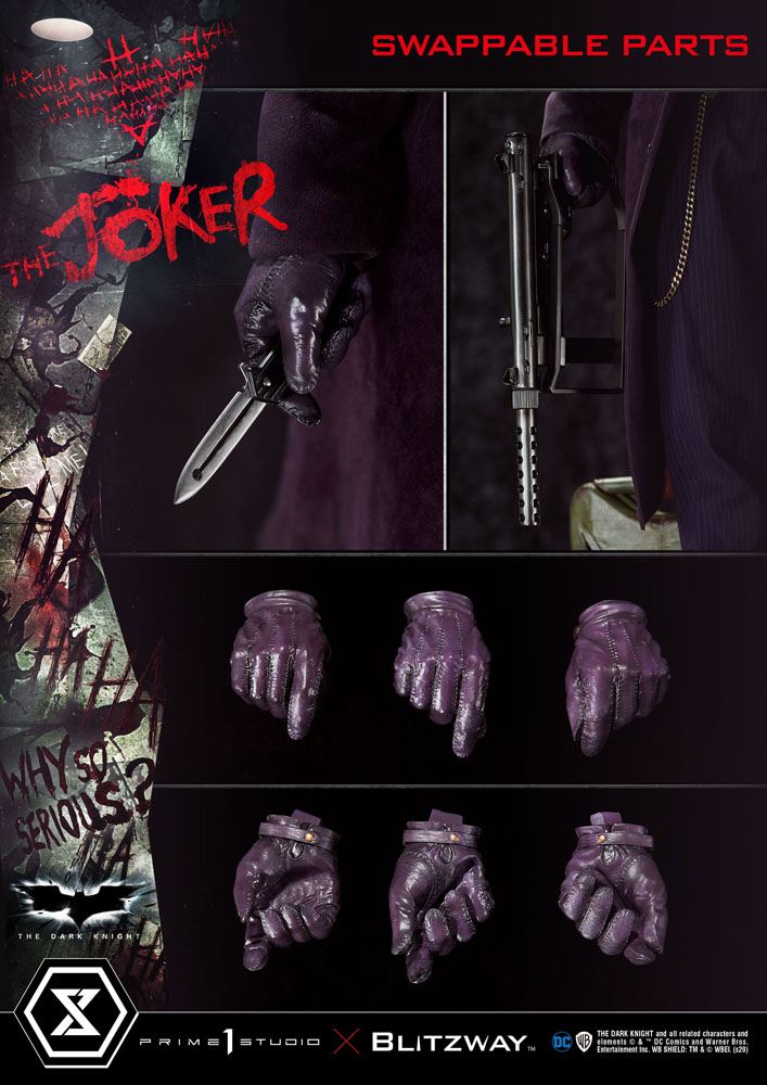 Statue The Dark Knight The Joker Bonus Version 72cm 1001 Figurines (12)