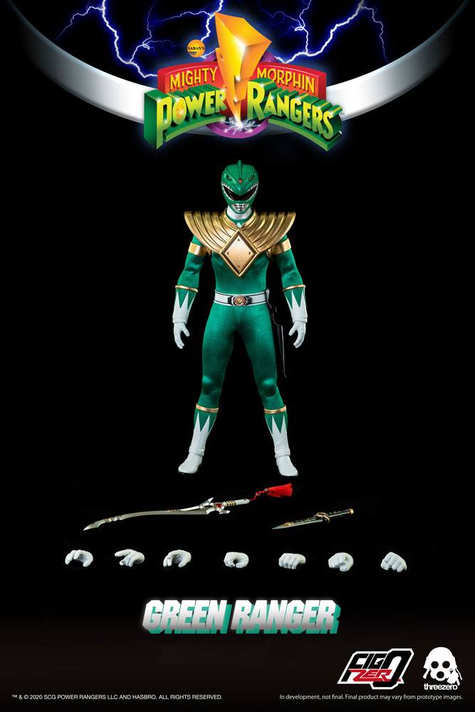 Figurine Mighty Morphin Power Rangers FigZero Green Ranger 30cm 1001 Figurines (9)