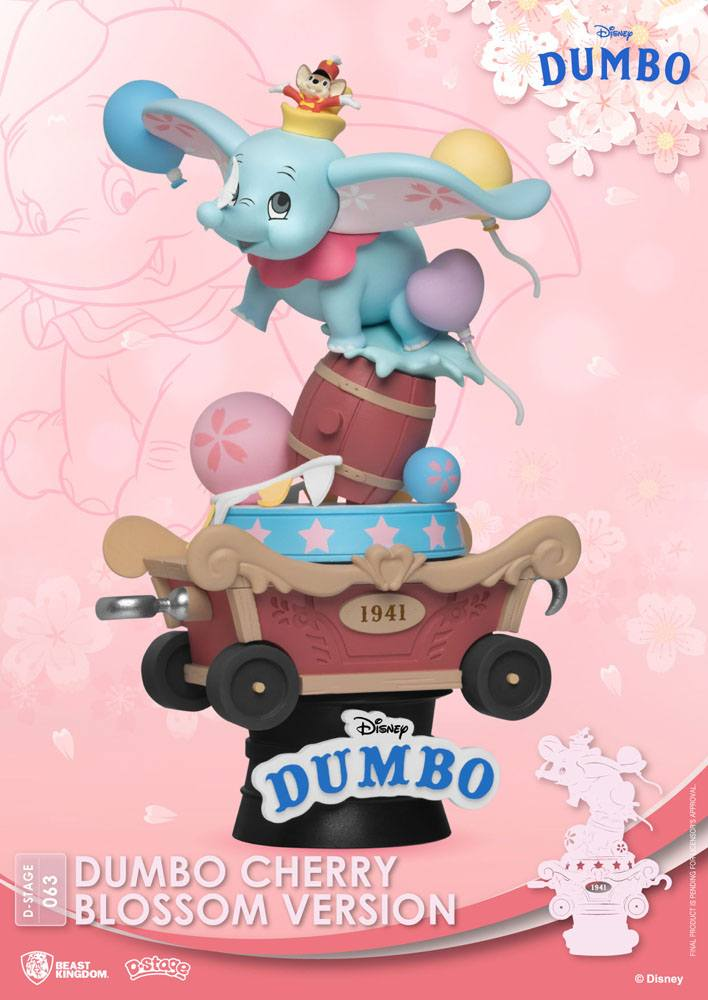 Diorama Disney D-Stage Dumbo Cherry Blossom Version 15cm 1001 Figurines (2)