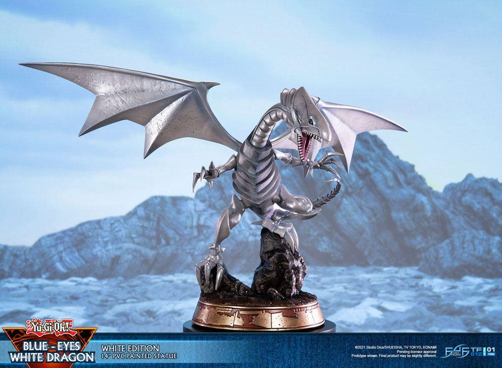 Statuette Yu-Gi-Oh! Blue-Eyes White Dragon White Edition 35cm