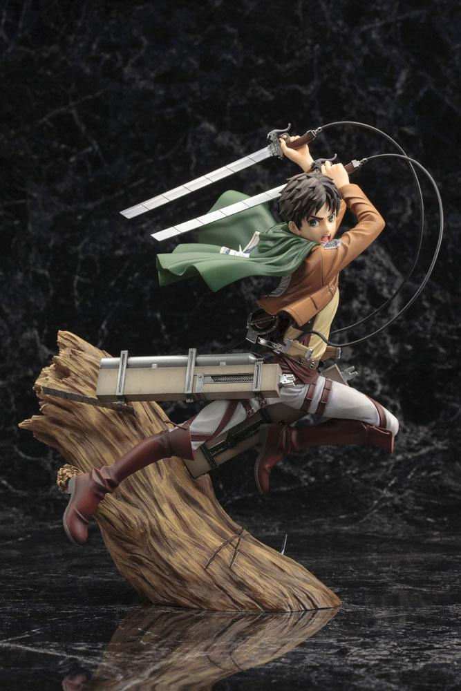 Statuette Attack on Titan ARTFX J Eren Yeager Renewal Package Ver. 26cm 1001 Figurines (2)