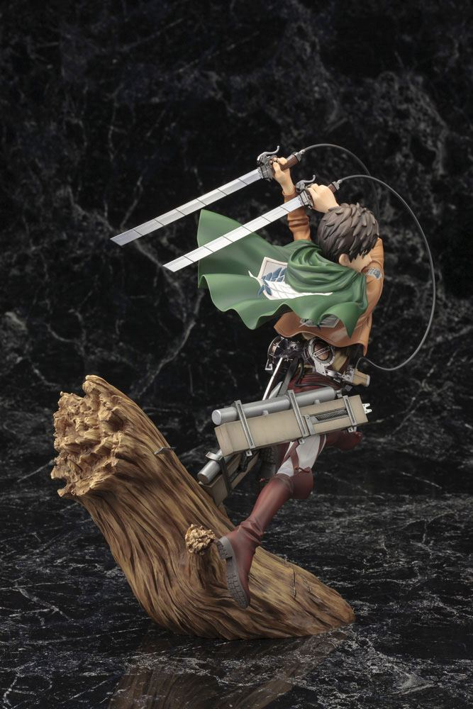 Statuette Attack on Titan ARTFX J Eren Yeager Renewal Package Ver. 26cm 1001 Figurines (7)