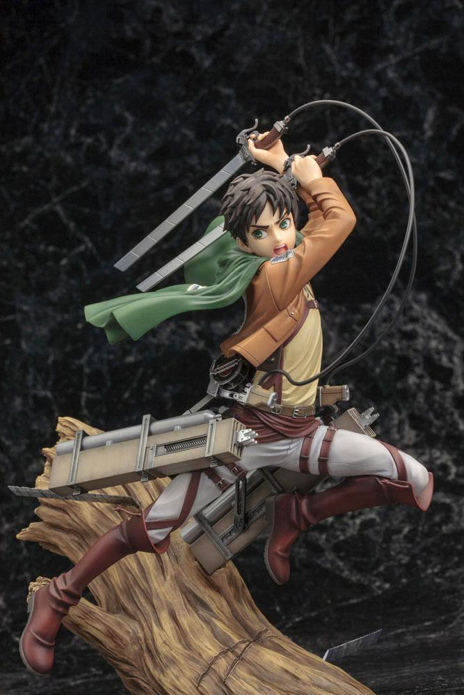 Statuette Attack on Titan ARTFX J Eren Yeager Renewal Package Ver. 26cm 1001 Figurines (10)
