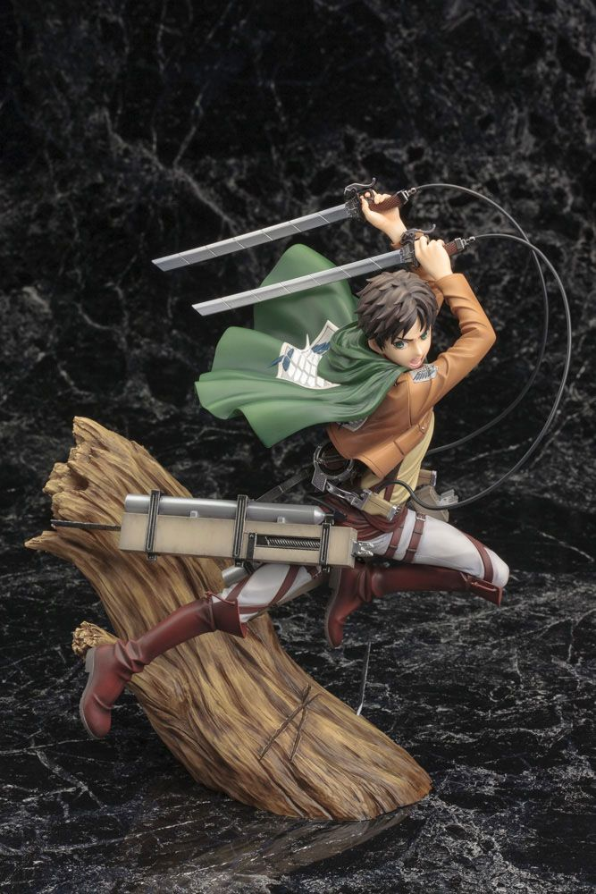 Statuette Attack on Titan ARTFX J Eren Yeager Renewal Package Ver. 26cm 1001 Figurines (11)