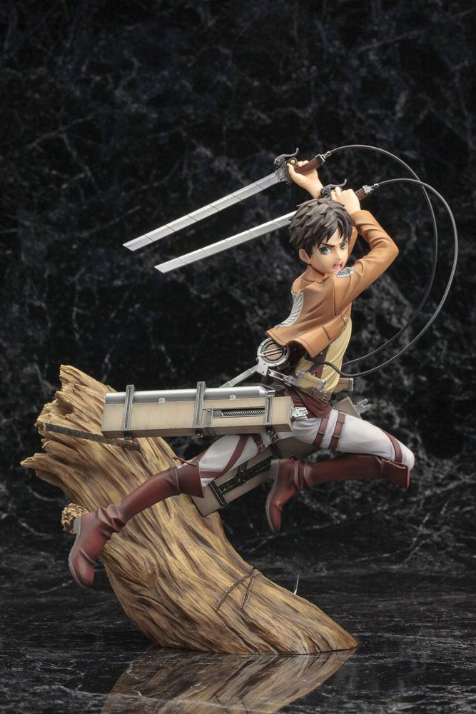 Statuette Attack on Titan ARTFX J Eren Yeager Renewal Package Ver. 26cm 1001 Figurines (12)