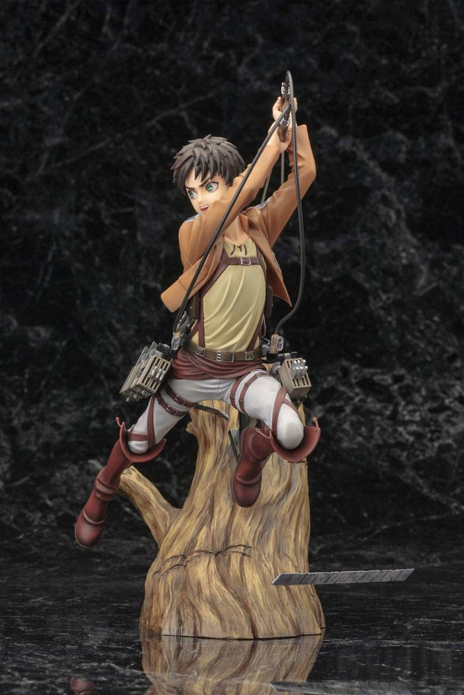Statuette Attack on Titan ARTFX J Eren Yeager Renewal Package Ver. 26cm 1001 Figurines (14)