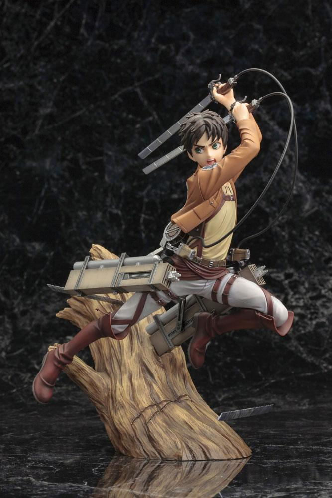 Statuette Attack on Titan ARTFX J Eren Yeager Renewal Package Ver. 26cm 1001 Figurines (13)