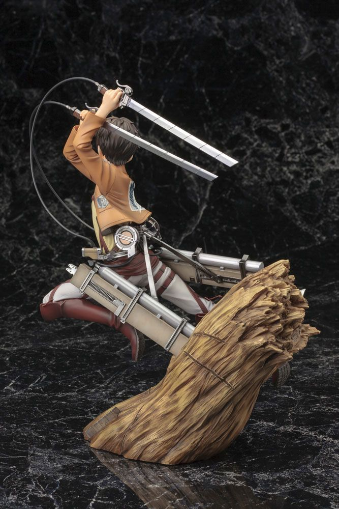 Statuette Attack on Titan ARTFX J Eren Yeager Renewal Package Ver. 26cm 1001 Figurines (15)