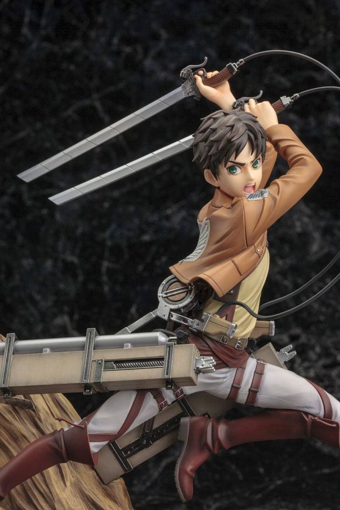 Statuette Attack on Titan ARTFX J Eren Yeager Renewal Package Ver. 26cm 1001 Figurines (17)