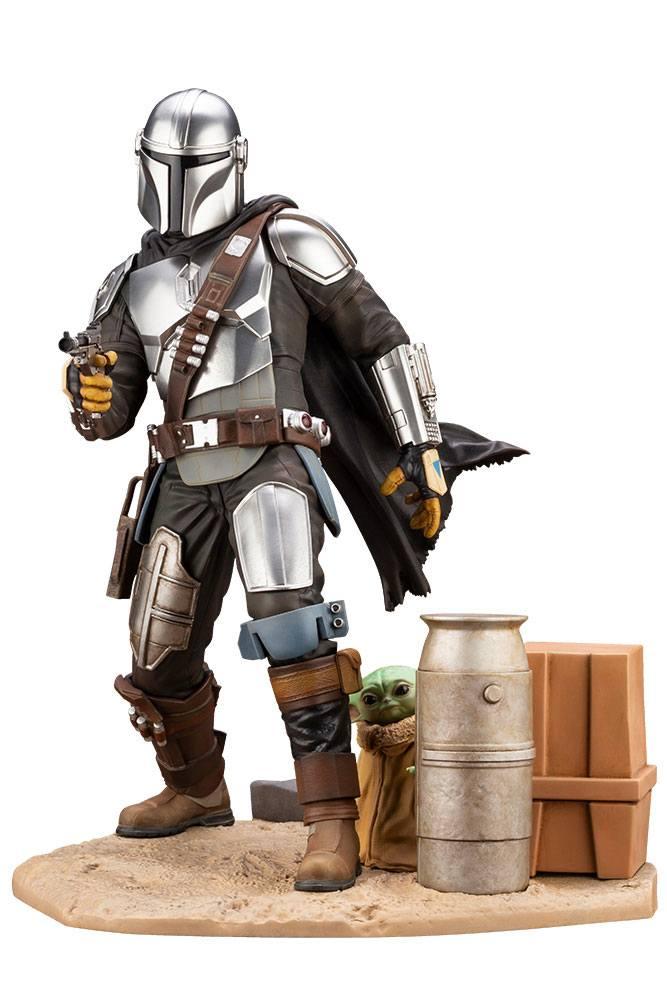 Statuette Star Wars The Mandalorian ARTFX Mandalorian & The Child 26cm 1001 Figurines (1)