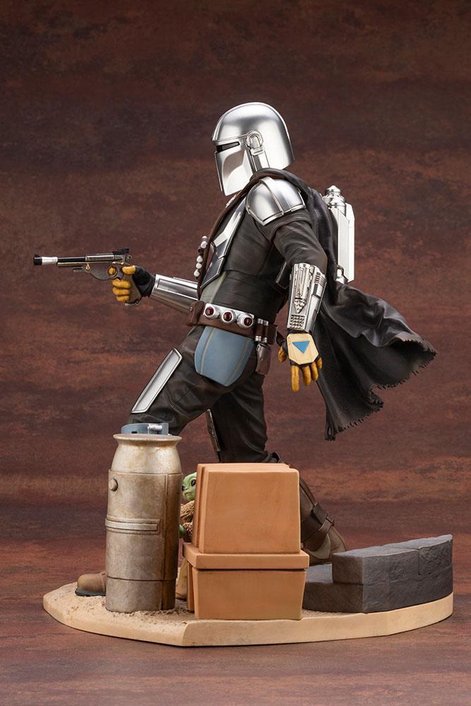 Statuette Star Wars The Mandalorian ARTFX Mandalorian & The Child 26cm 1001 Figurines (4)