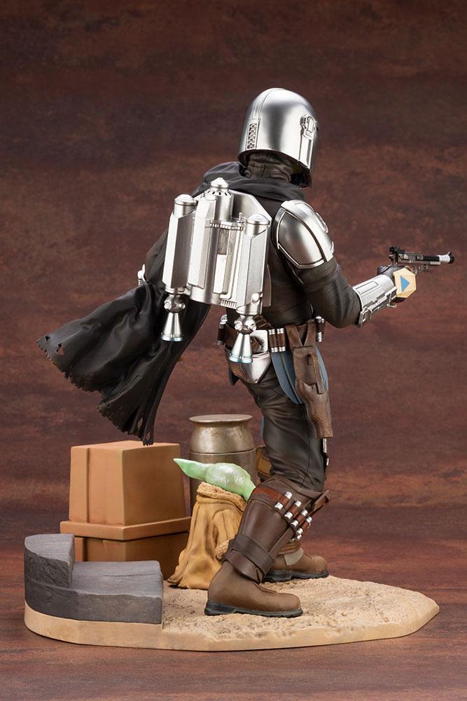 Statuette Star Wars The Mandalorian ARTFX Mandalorian & The Child 26cm 1001 Figurines (7)
