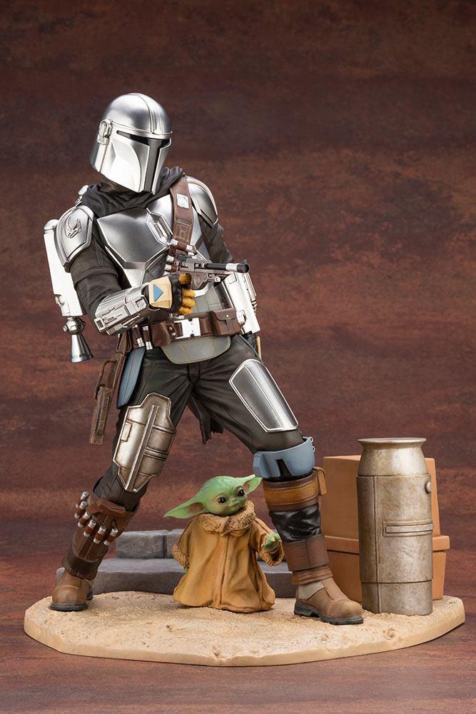 Statuette Star Wars The Mandalorian ARTFX Mandalorian & The Child 26cm 1001 Figurines (9)