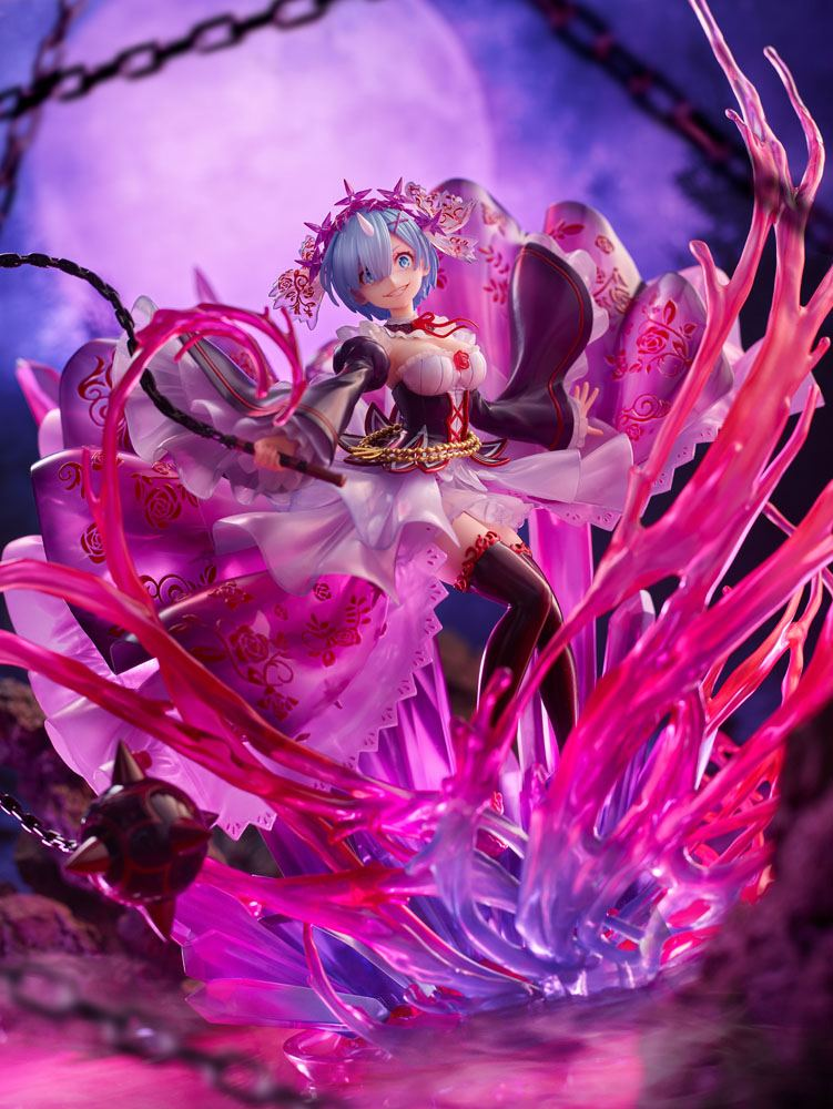 Statuette Re Zero Starting Life in Another World Oni Rem Crystal Dress Ver. 30cm 1001 Figurines (10)