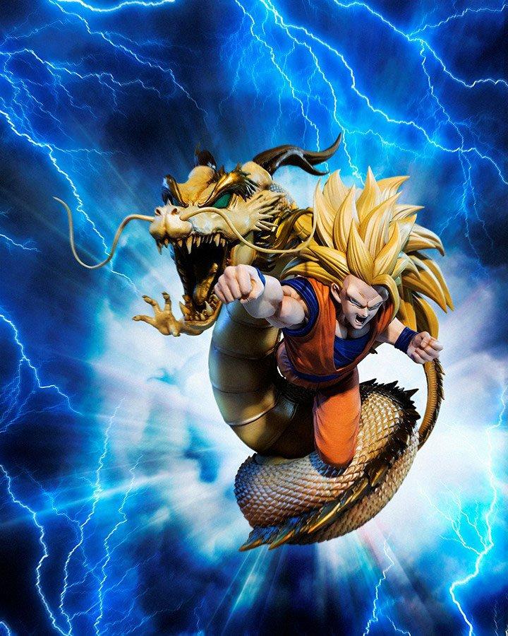 Statuette Dragon Ball Z Figuarts ZERO Extra Battle Super Saiyan 3 Son Goku 21cm 1001 Figurines (5)