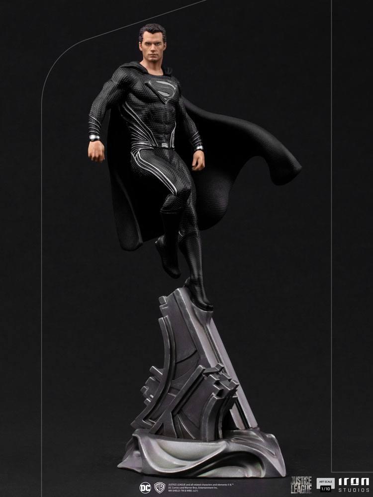 Statuette Zack Snyders Justice League Art Scale Superman Black Suit 30cm 1001 Figurines  (2)