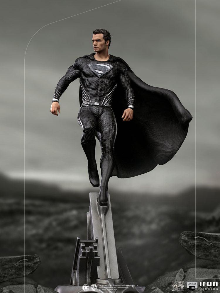 Statuette Zack Snyders Justice League Art Scale Superman Black Suit 30cm 1001 Figurines  (13)