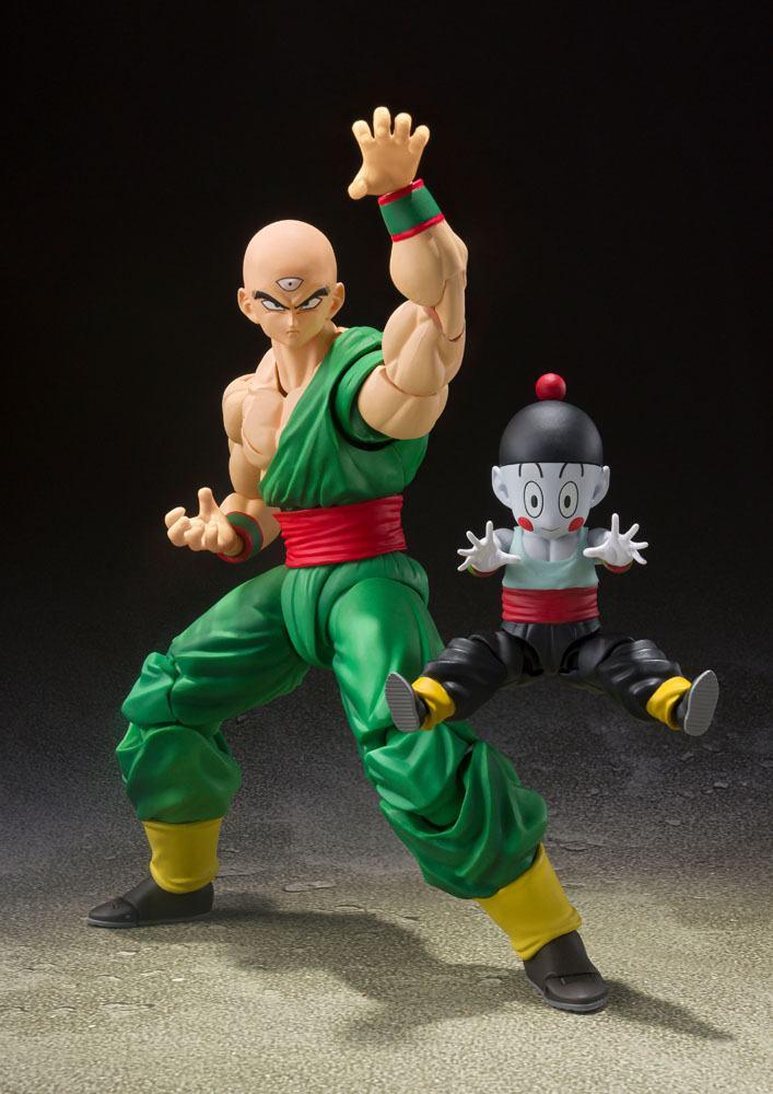 Figurines Dragon Ball Z S.H. Figuarts Tenshinhan & Chaoz 16-8cm