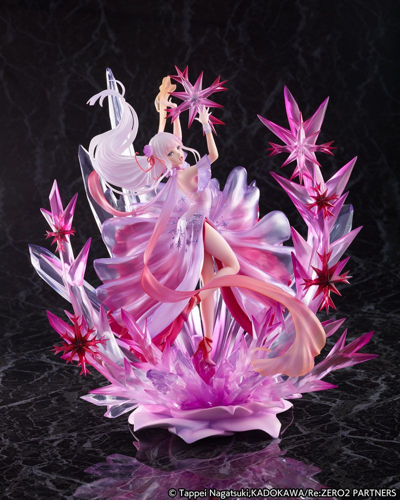 Statuette Re Zero Starting Life in Another World Emilia Crystal Dress Ver. 35cm 1001 Figurines (1)