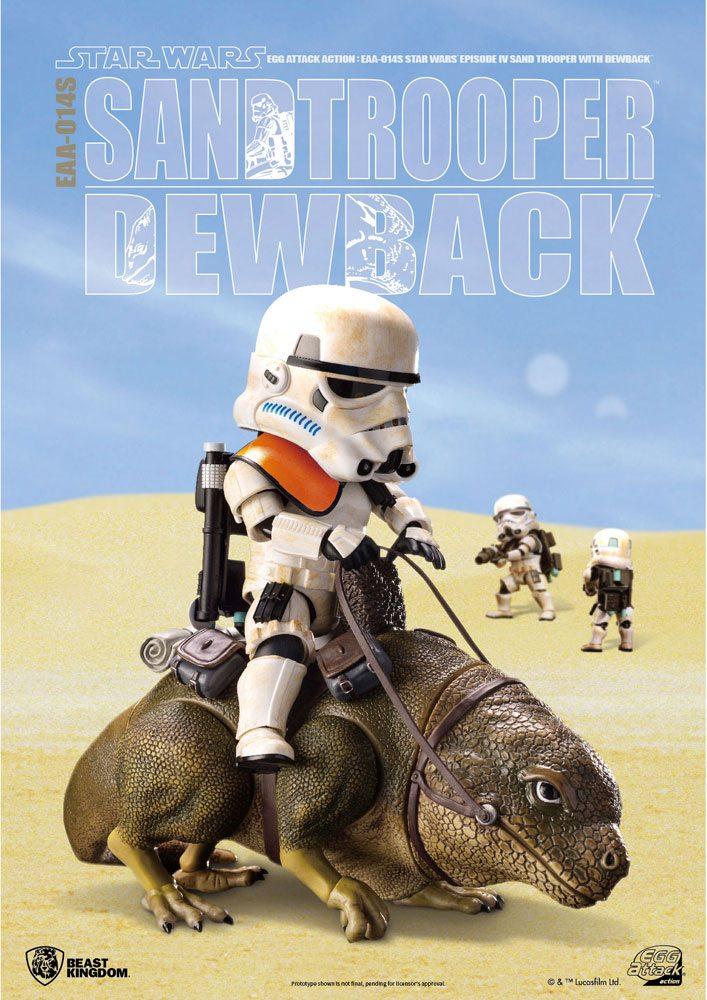 Pack 2 Figurines Star Wars Episode IV Egg Attack Dewback & Sandtrooper 9-15cm