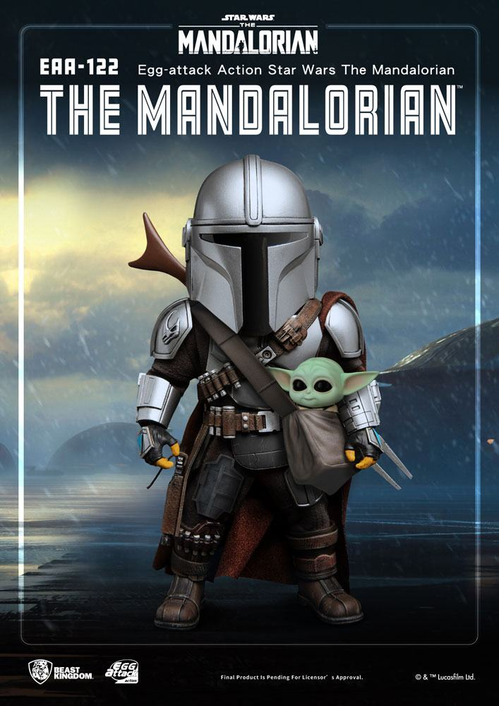 Figurine Star Wars The Mandalorian Egg Attack Action The Mandalorian 17cm