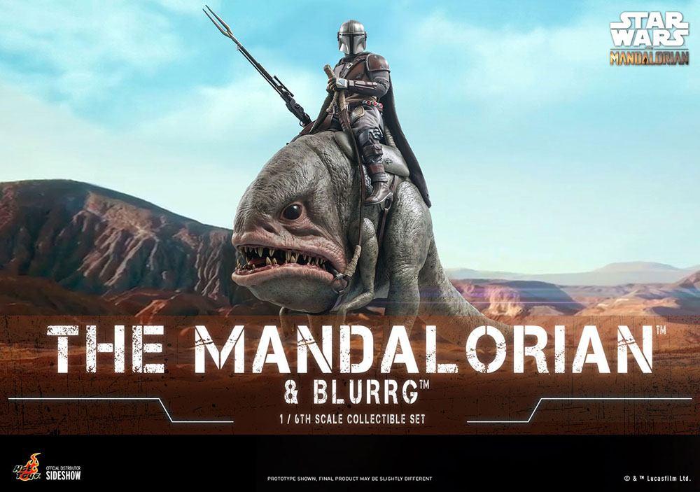 Pack 2 figurines Star Wars The Mandalorian - The Mandalorian & Blurrg 37cm